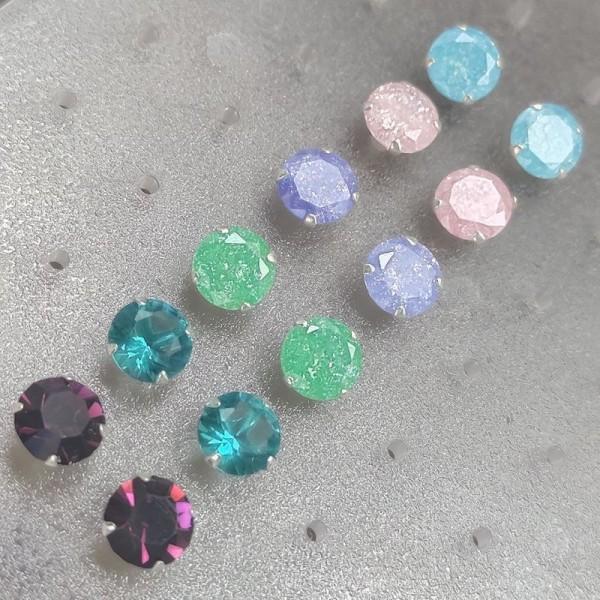 Minđuše Kolor 6mm