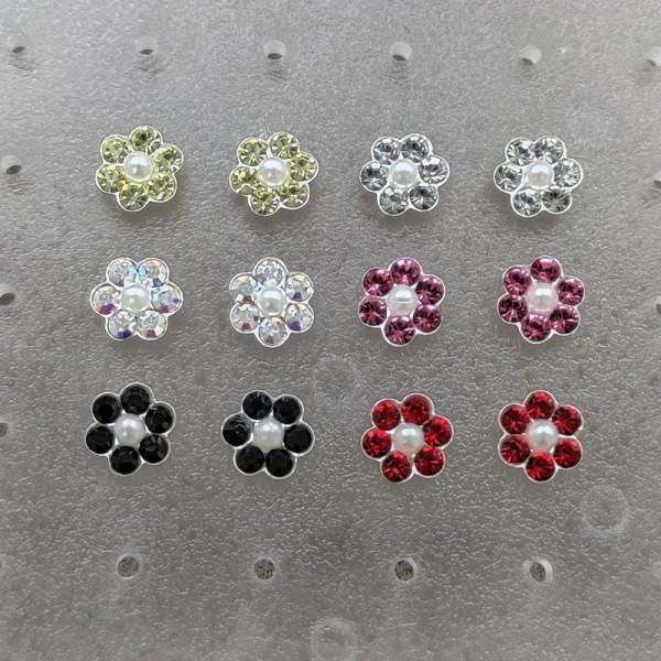 Minđuše Kolor cvetić 6 mm